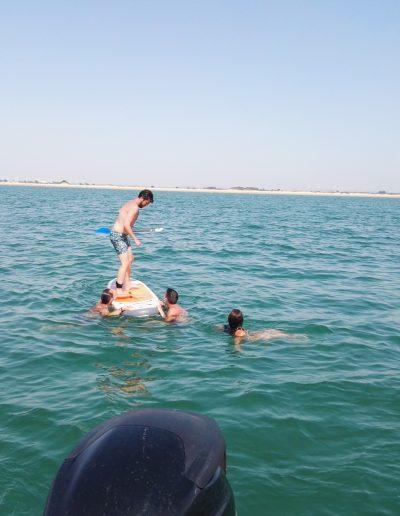 Difrutar paddle surf barco Cadiz